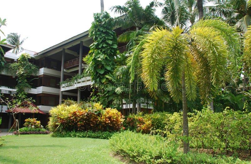 Recurso tropical do hotel em Bali, Indonésia fotografia de stock