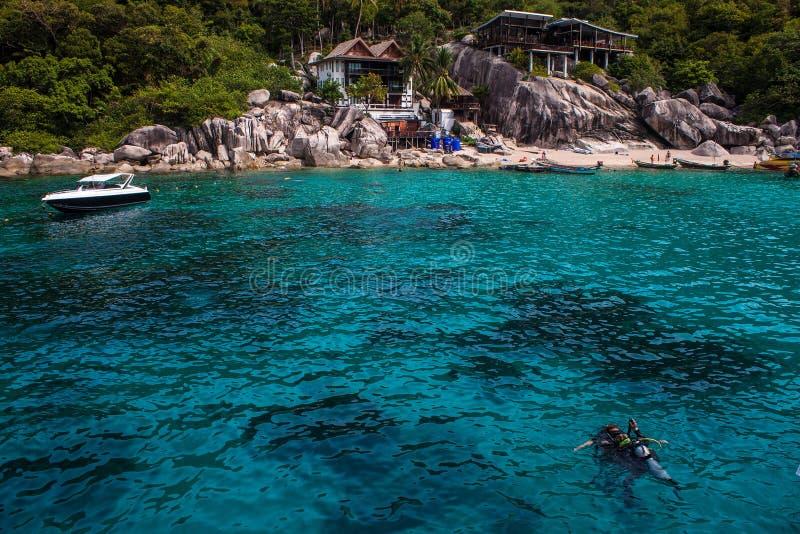 Recurso tropical em Ko Tao imagem de stock