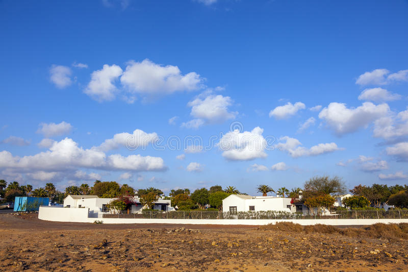 recursos do urbanisation em Lanzarote imagens de stock royalty free