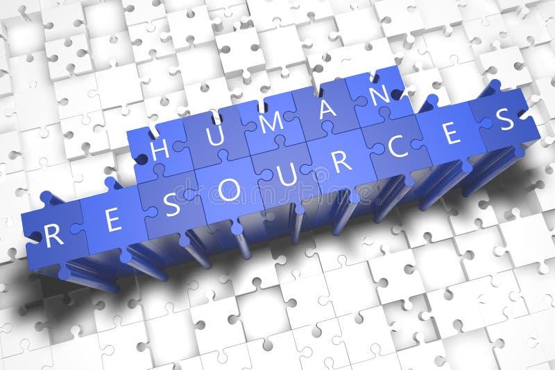 Recursos humanos stock de ilustración