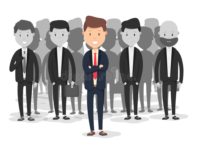 Recursos humanos do processo do recrutamento Ilustração lisa de aluguer dos desenhos animados do pessoal do negócio ilustração royalty free