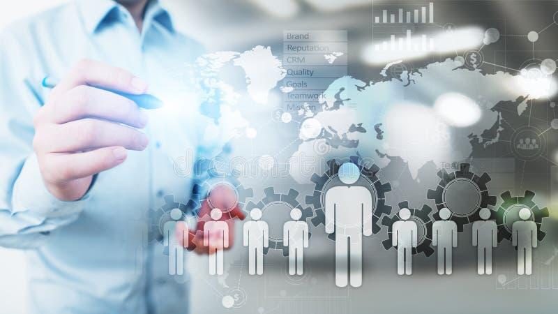 Recursos humanos, gestão da hora, recrutamento, talento querida, conceito do negócio do emprego ilustração do vetor