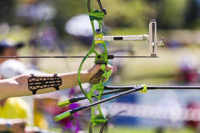 Recurve bow archery competition bow only royalty free stock images