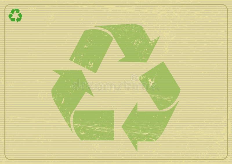 Recyclabe horyzontalny tło ilustracja wektor