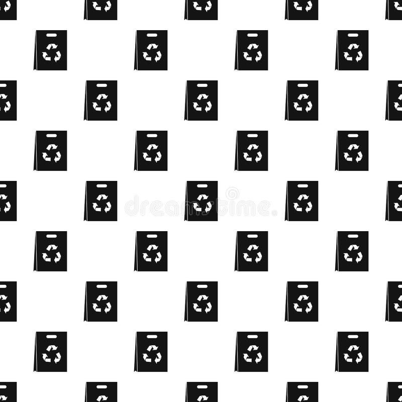 Recyclable картина полиэтиленового пакета, простой стиль иллюстрация вектора