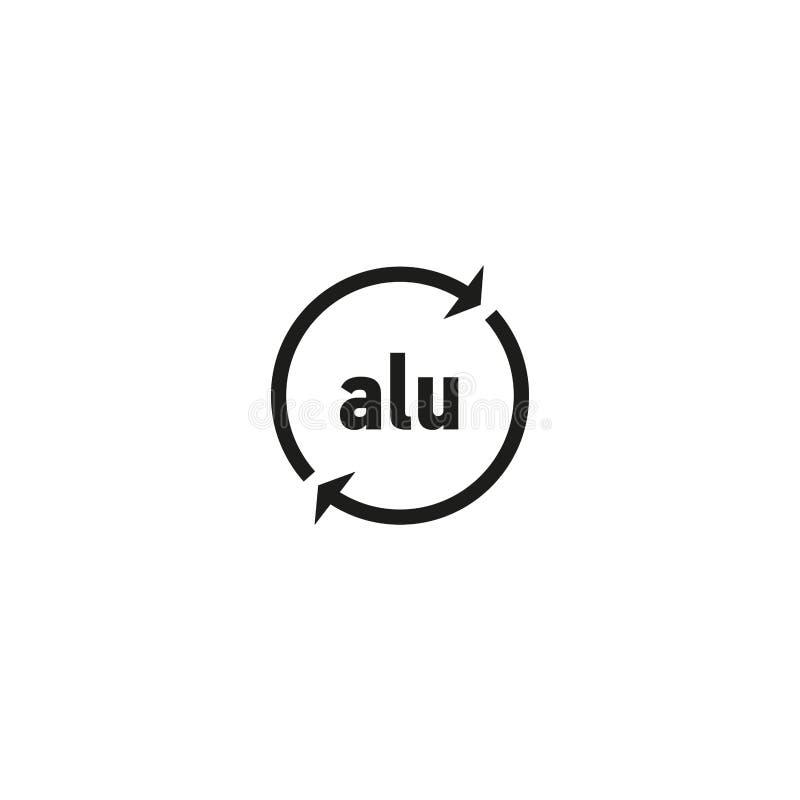 Recyclable aluminiowy symbol na białym tle ilustracji