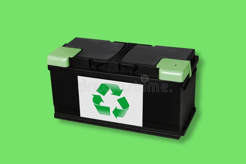 Recycle electric batteries stock images