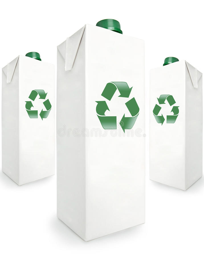 Recyclable Boxes stock images