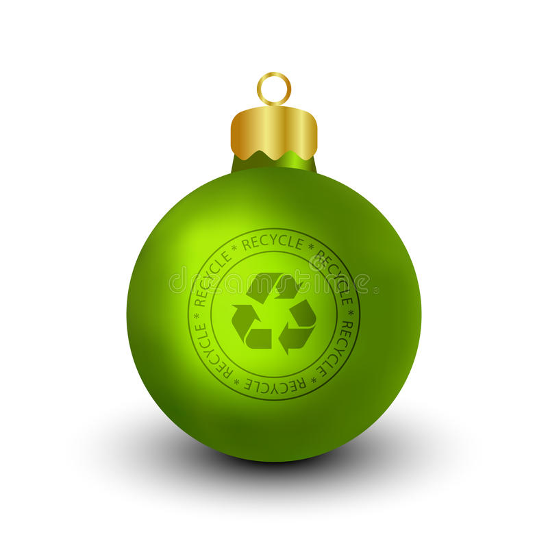 Download Recyclable Christmas Bauble Stock Vector - Illustration of green, background: 11997157