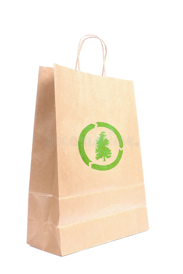 Download Recyclable Paper Bag Stock Photo - Image: 5886630