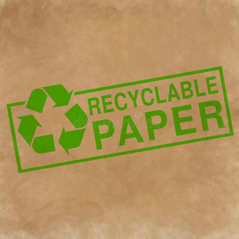 Recyclable paper symbol royalty free illustration