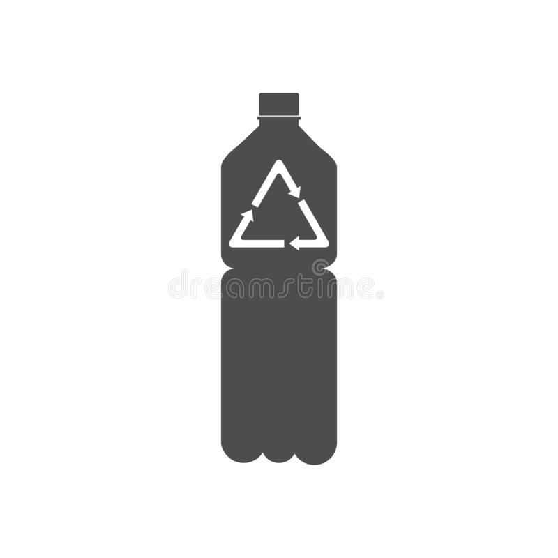 Recyclable plastic, Recycled bottle icon. Vector illustration, flat design. Recyclable plastic Vector illustration, flat design stock illustration
