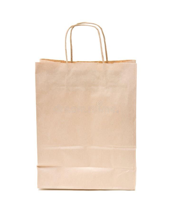 Recyclable; saco de papel marrom reusável fotografia de stock
