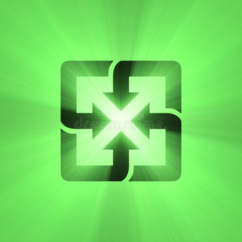 Download Recyclable Sign Green Light Flare Stock Illustration - Image: 31908211