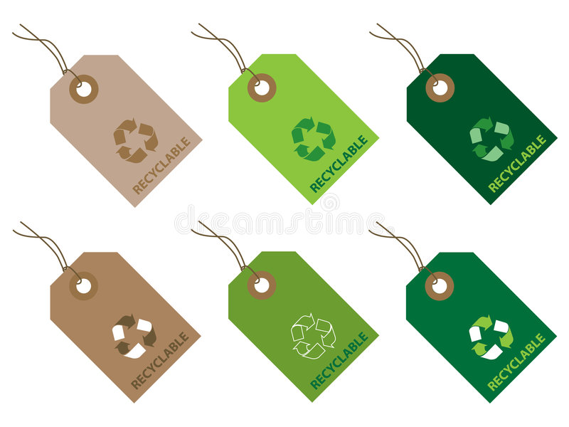 Download Recyclable tags stock vector. Illustration of ecology - 4228869