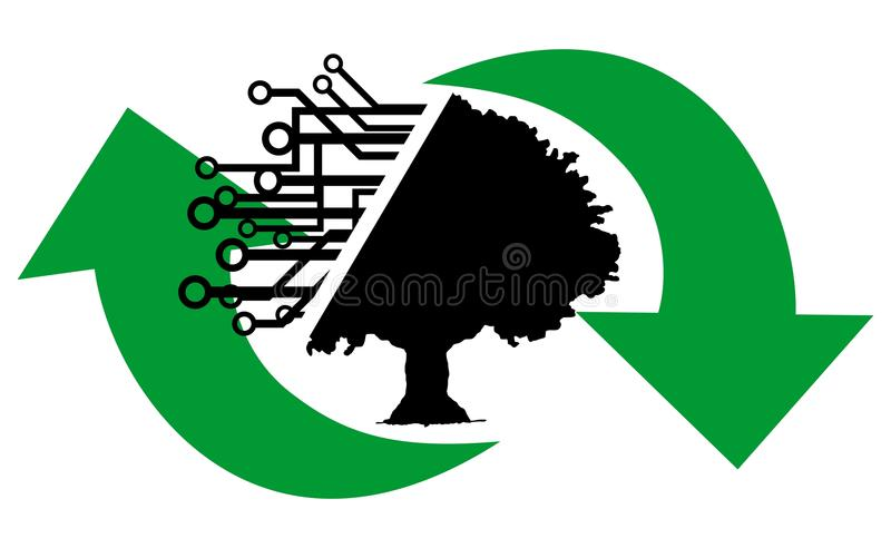 Recyclable tree stock illustration