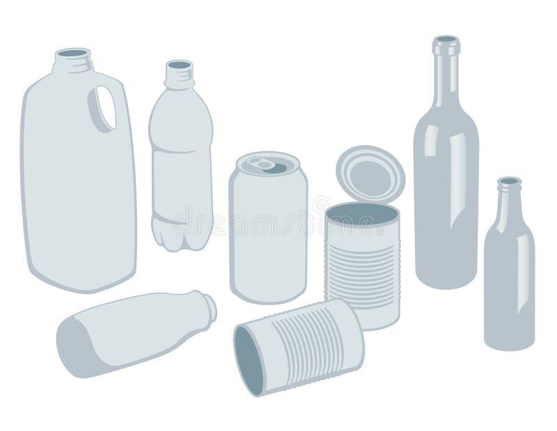 recyclablesvektor vektor illustrationer