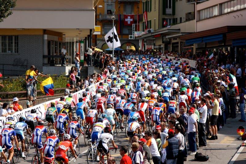 Recyclage - championnats 2009 du monde de route d'UCI images libres de droits