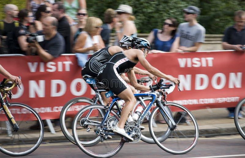 Recyclage de Triathlon de Londres images libres de droits