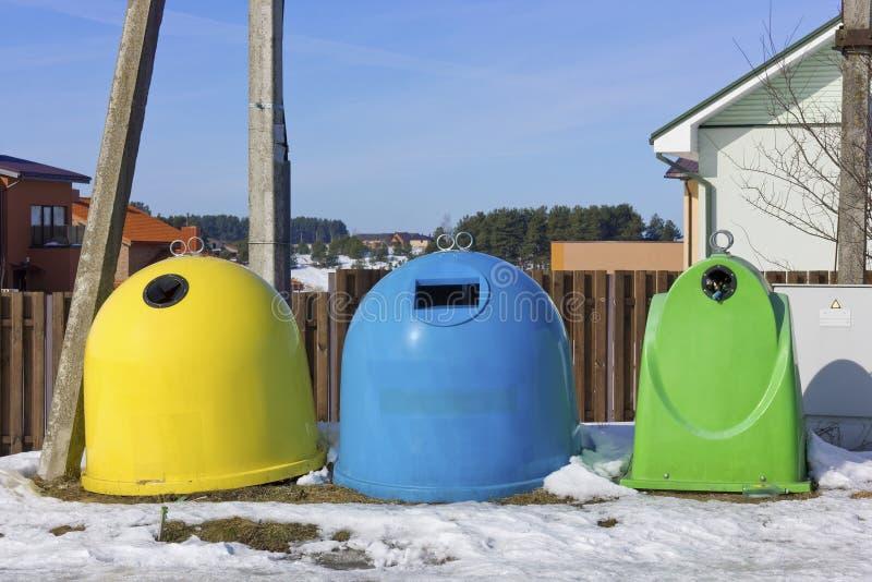 Het concept van het landsystemen van de recyclage stock foto