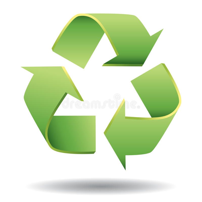 Recycle. Icon illustration on white background. An additional Vector .Eps file available. (you can use elements separately