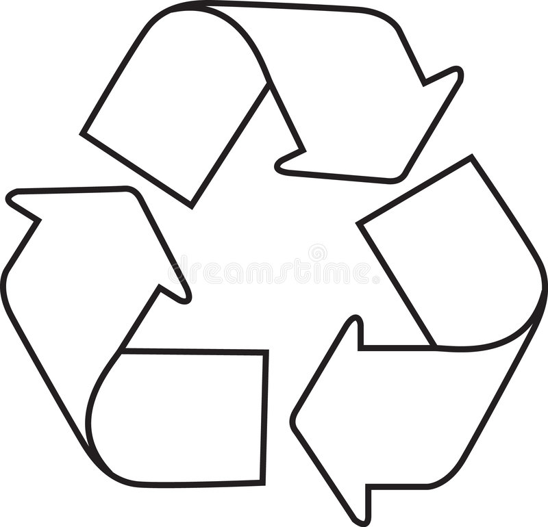 Recycle. Icon illustration on white background