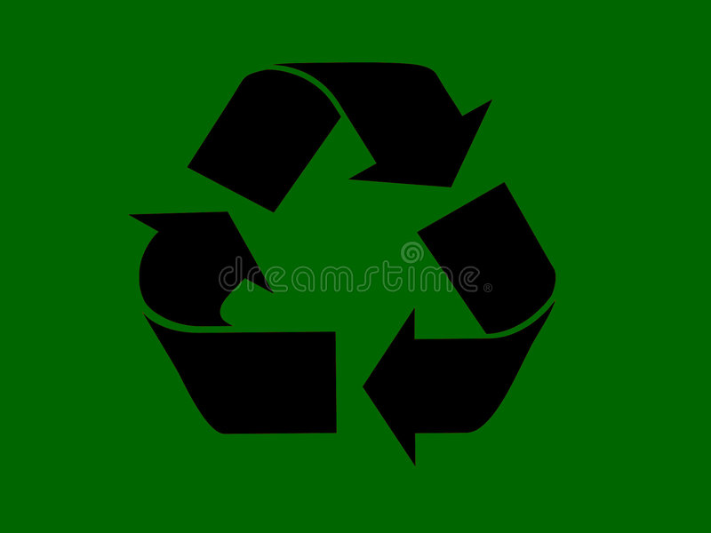 Recycle. This is a good sign for illsutration for a commercial project, or even a private project you are working on, would look good as a screen saver to