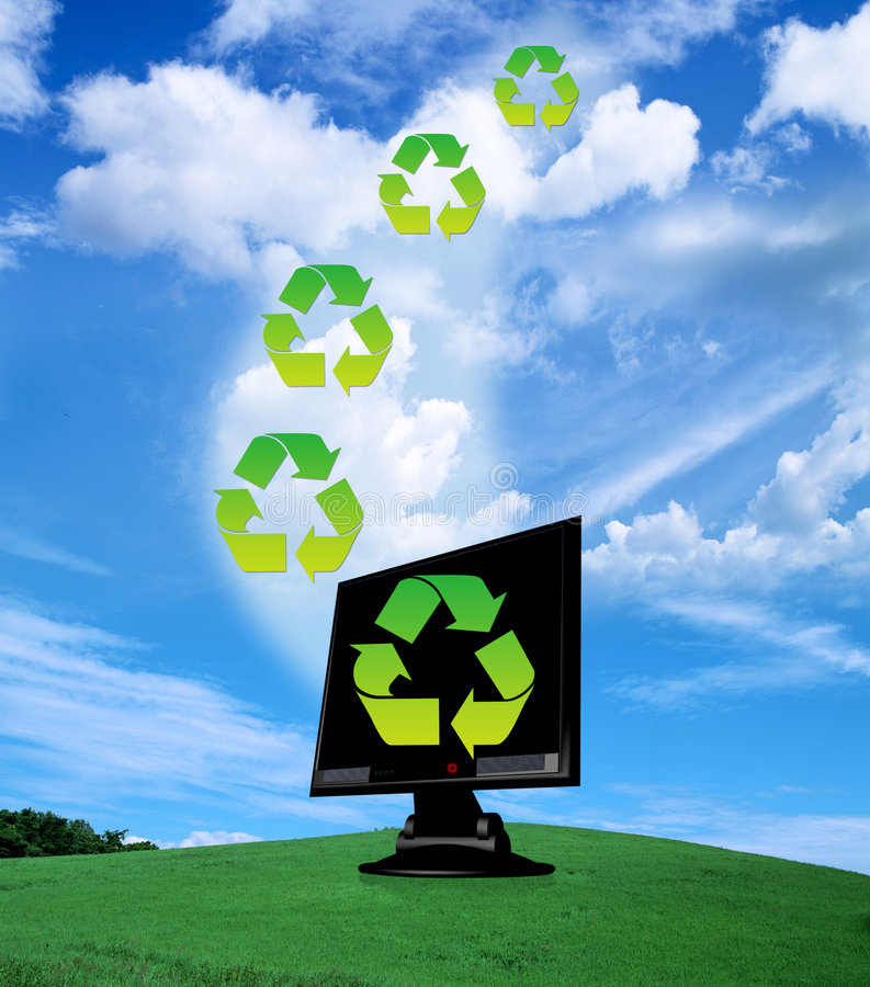 Download Recycle stock illustration. Image of greenish, icon, background - 9281873