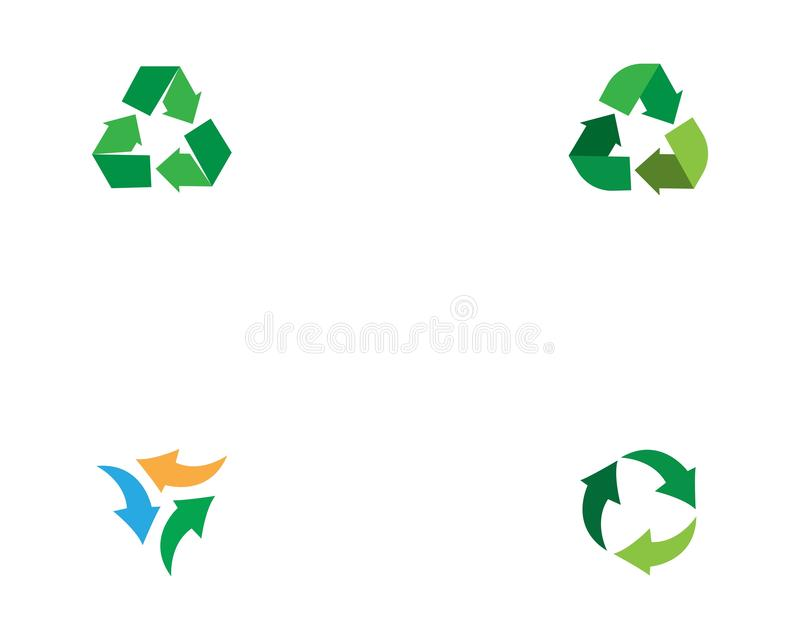 Recycle or arrow logo template vector.  stock illustration