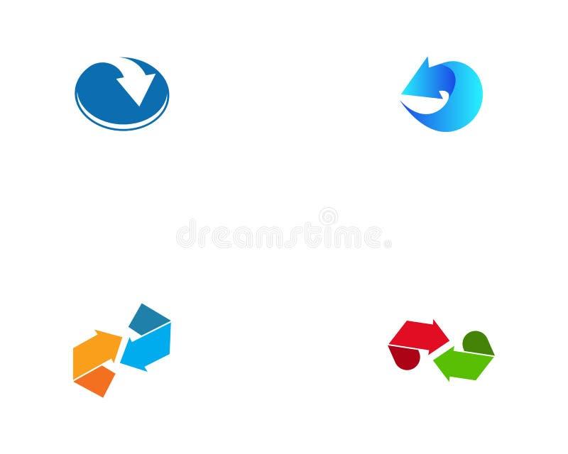 Recycle or arrow logo template vector.  vector illustration
