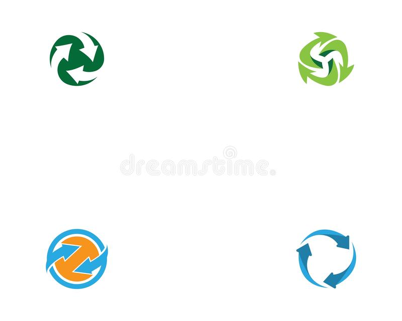 Recycle or arrow logo template vector.  royalty free illustration