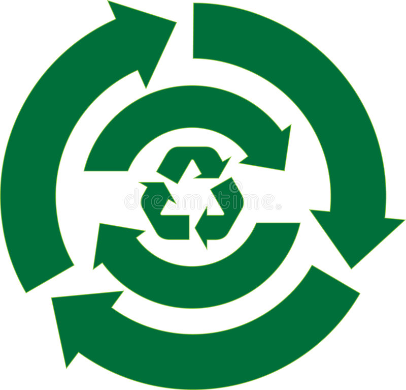 Download Recycle Arrow Set Stock Photography - Image: 6289772