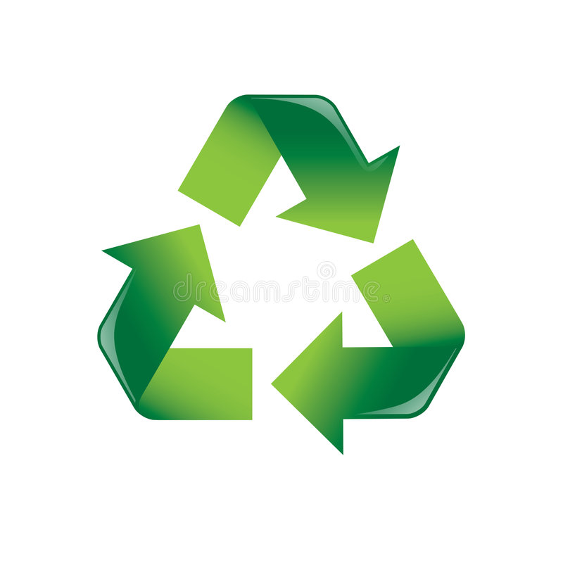 Recycle Arrows stock image