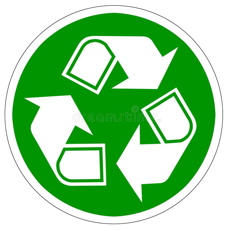 Recycle arrows isolated on white stock illustration