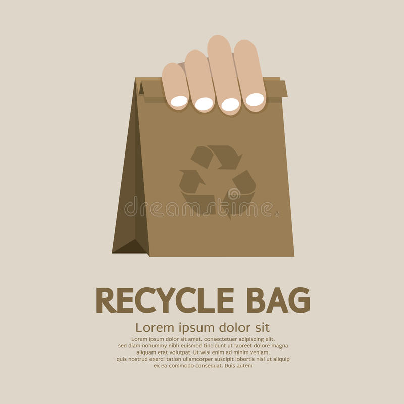 Download Recycle bag stock vector. Illustration of green, friendly - 39507610