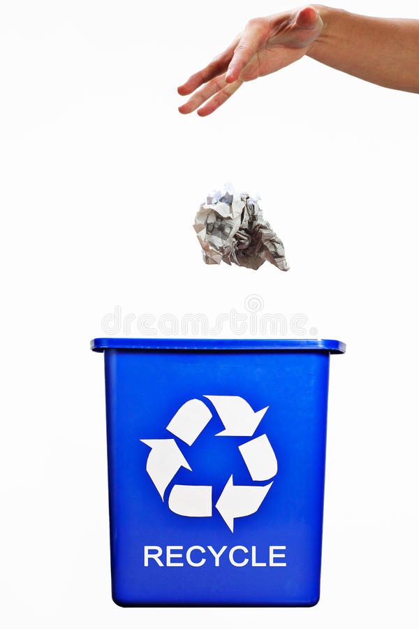 Recycle bin royalty free stock photo