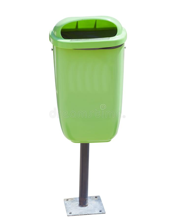 Recycle bin for garbage isolated. On white stock photography