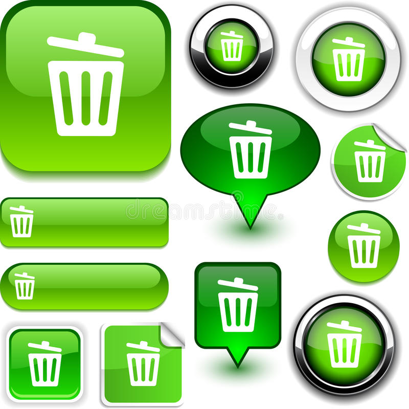 Download Recycle bin green signs. stock vector. Image of design - 20548084