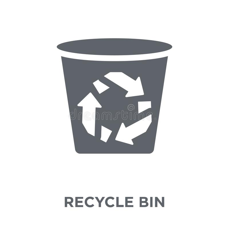 Recycle bin icon from Ecology collection. Recycle bin icon. Recycle bin design concept from Ecology collection. Simple element vector illustration on white royalty free illustration