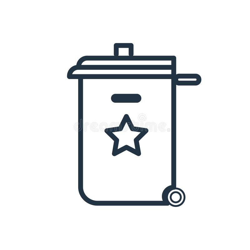 Recycle bin icon vector isolated on white background, Recycle bin sign. Recycle bin icon vector isolated on white background, Recycle bin transparent sign vector illustration