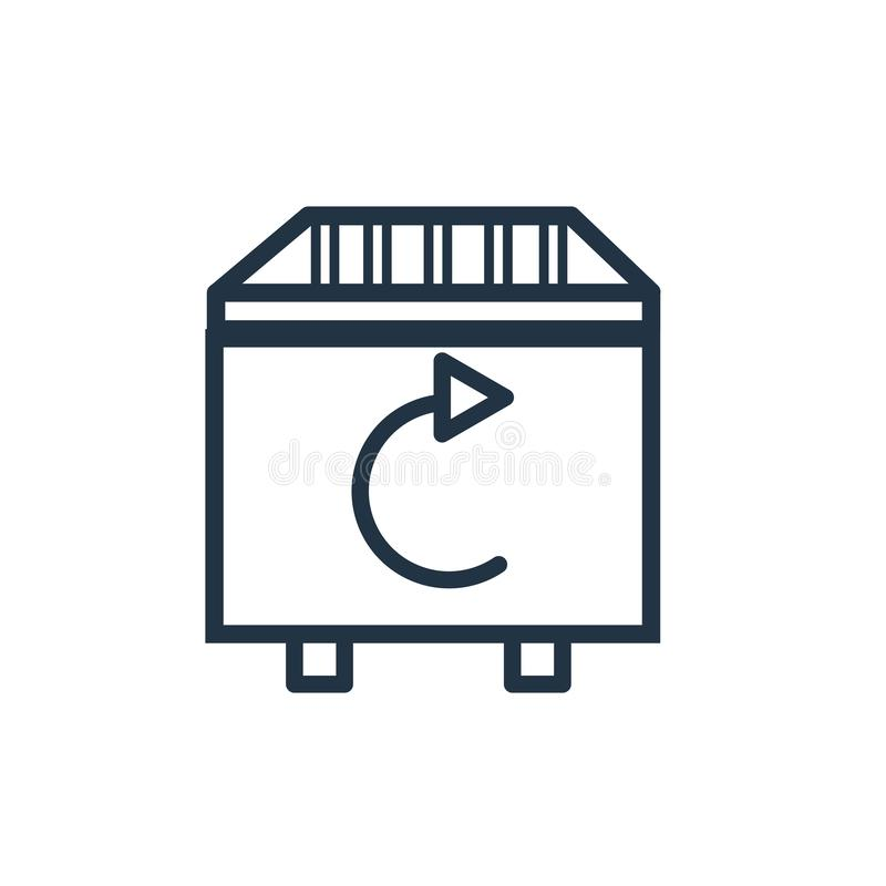 Recycle bin icon vector isolated on white background, Recycle bin sign. Recycle bin icon vector isolated on white background, Recycle bin transparent sign stock illustration