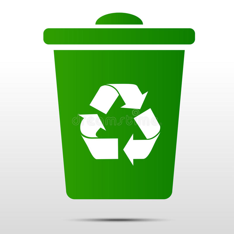 Recycle bin. Vector recycle bin and web icon vector illustration