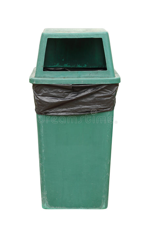 Recycle bin. On white background (with clipping path royalty free stock images