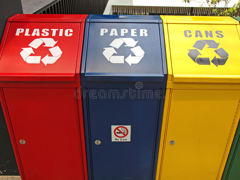 Download Recycle Bins stock image. Image of environmental, paper - 24340525