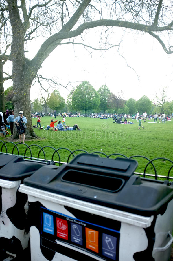 Download Recycle bins in the park editorial image. Image of hackney - 31298290
