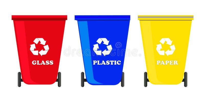 Recycle bins set vector vector illustration