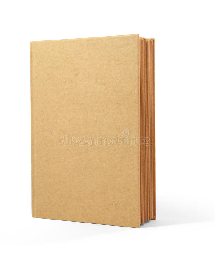 Recycle Book Brown Cover Isolated On White Backgro Stock Photography