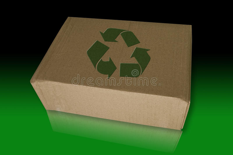 Recycle Box On Reflect Floor Royalty Free Stock Photo