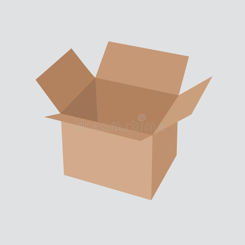 Recycle brown box packaging. vector illustration vector illustration