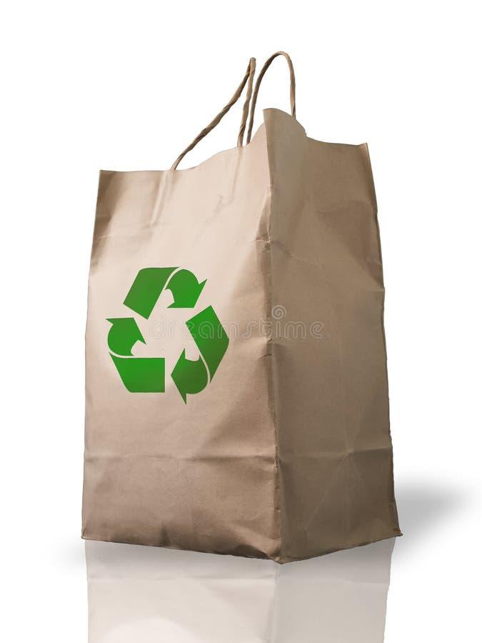Recycle Brown Crumpled peper bag stock photos